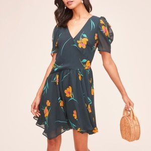 ASTR Asymmetrical Floral Dress M